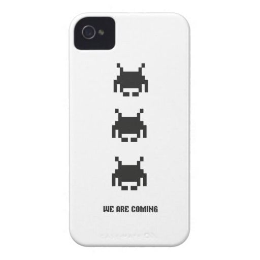 Invaders. We are coming. iPhone case. For geeks #geek #nerd #giftsforgeeks