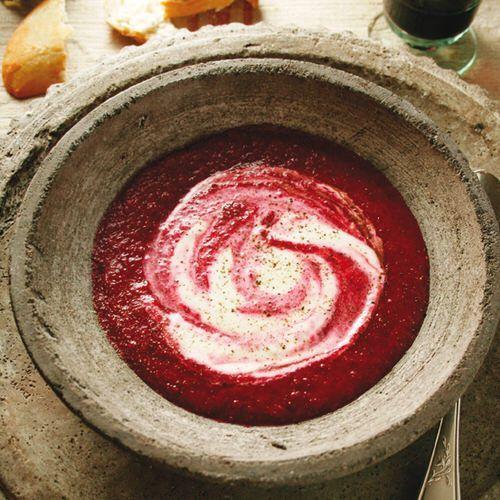 Bietensoep met appel en balsamicoazijn - recept - okoko recepten