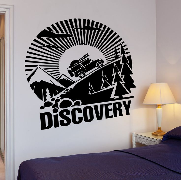 Wall Decal Quote Inspire Message Discovery Car Travel Tourism Decor (Z2645)