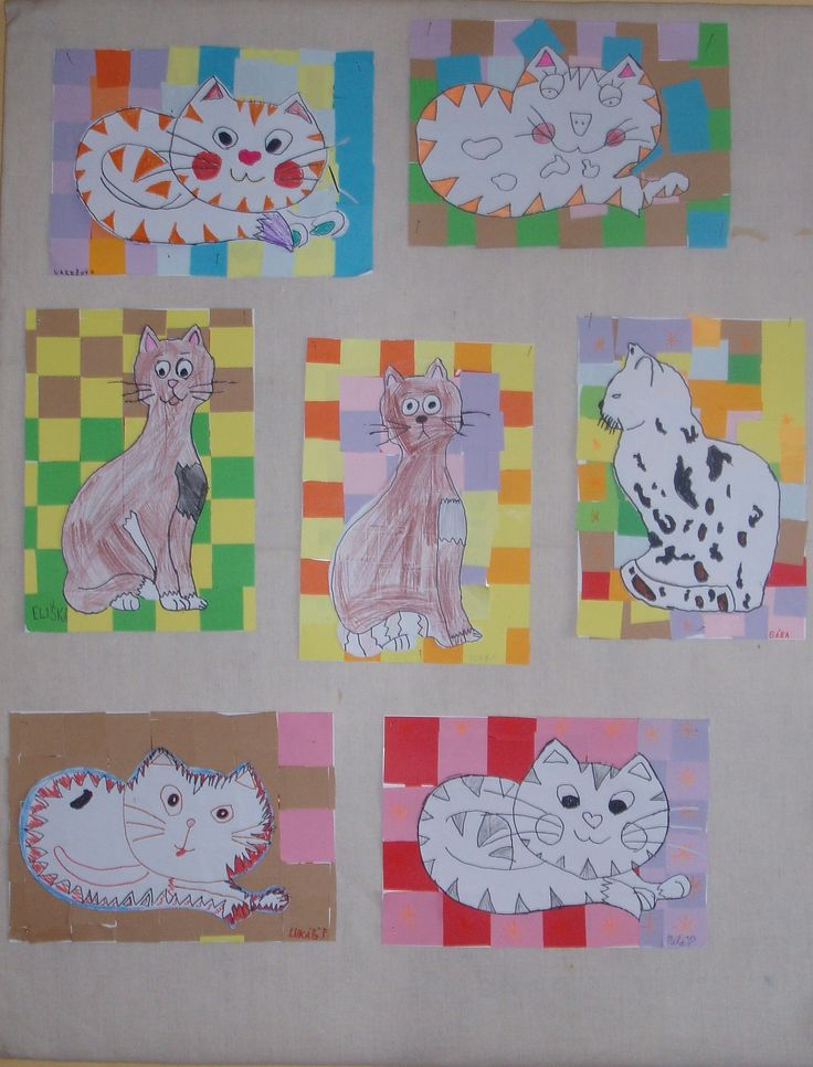 Kočky na mozaikovém koberci