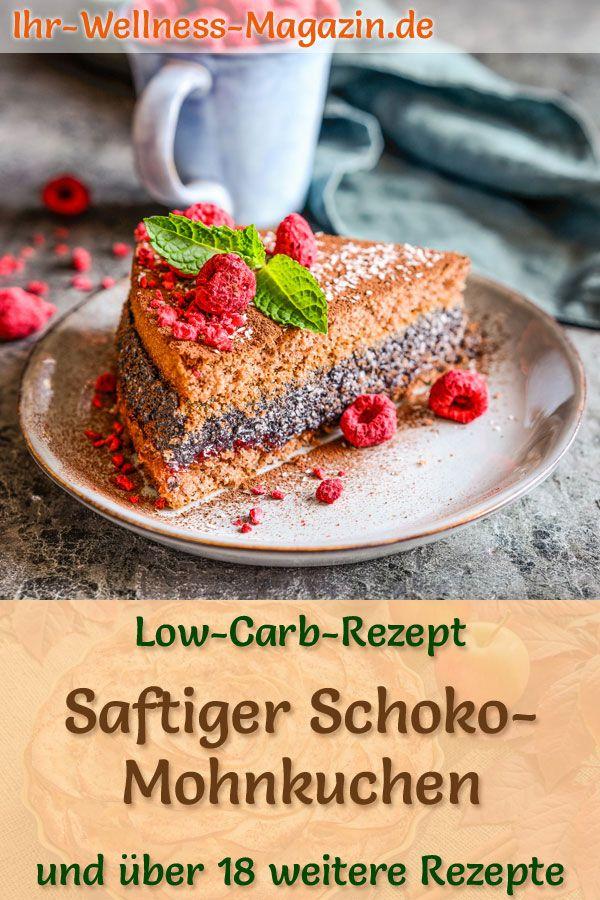Saftiger Low Carb Schoko Mohnkuchen Rezept Ohne Zucker Rezepte Mohnkuchen Rezept Low Carb Rezepte