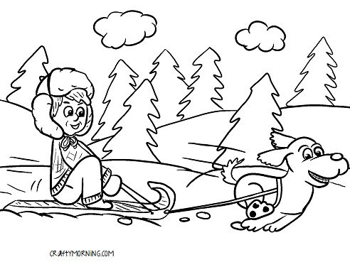 Free Printable Winter Coloring Pages for Kids - Crafty Morning