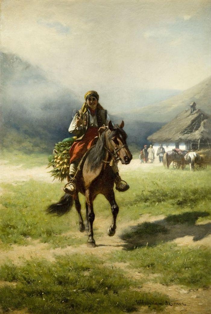 - Hucułka na koniu