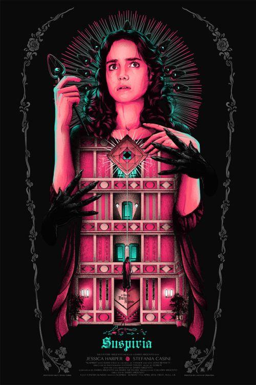 Matt Ryan designed this breathtaking poster for Dario Argento's Suspiria.