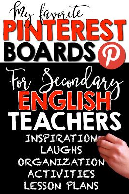 SECONDARY ENGLISH TEACHERS ON PINTEREST by Room 213