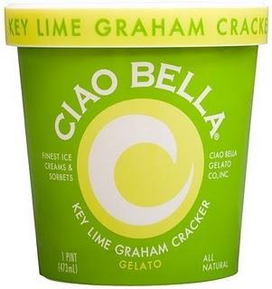 I LOVE Ciao Bella's Key Lime Graham Cracker gelato!