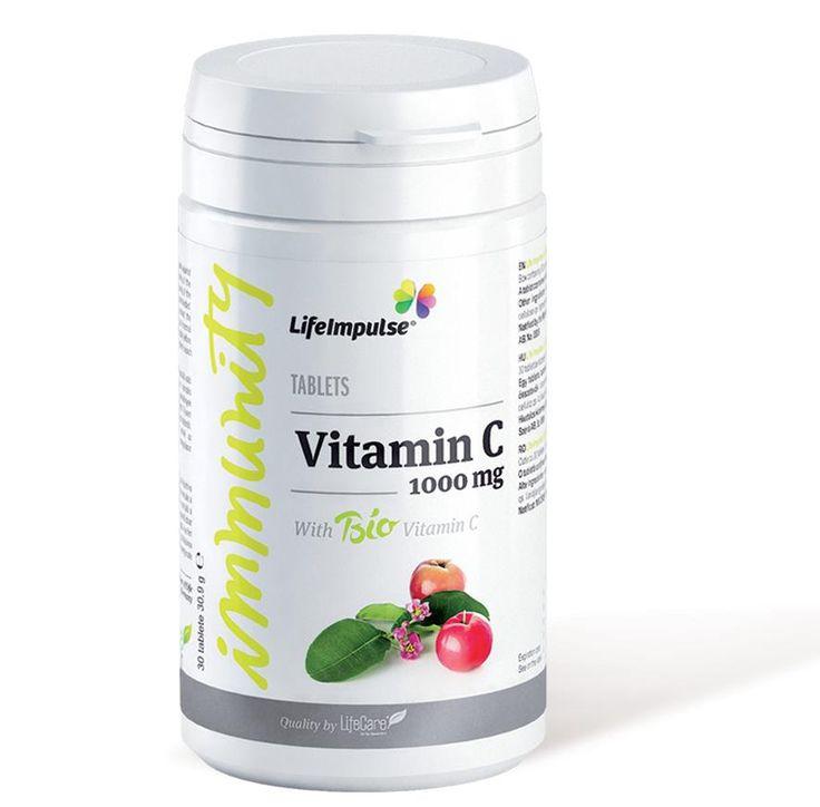 Life Impulse® Vitamina C 1000mg - Eliberare prelungita - http://produse.life-care.bio/life-impulse-vitamina-c-1000mg-eliberare-prelungita/