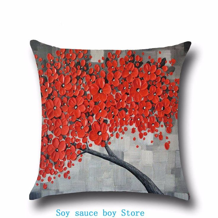 Health christmas Comfortable environment Halloween day Flame red flowers anaglyph Pillow Case for baby Children