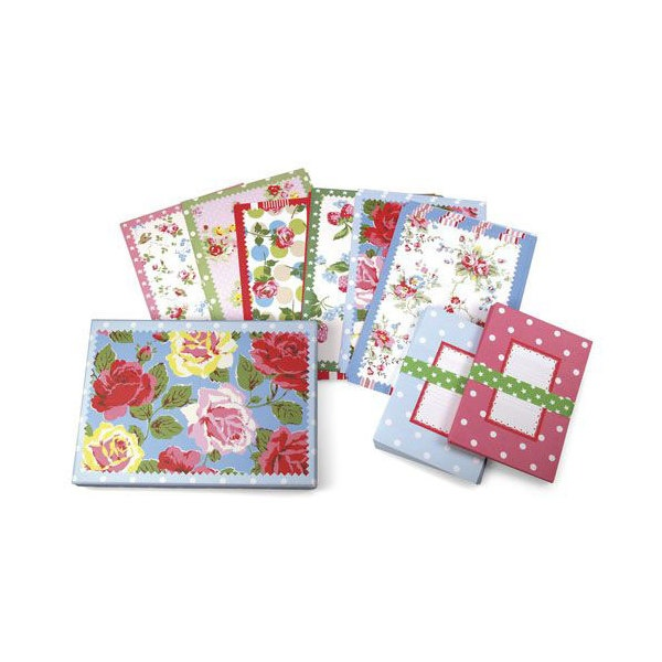 These colorful vintage stationery designs are ideal for all manner of correspondence.