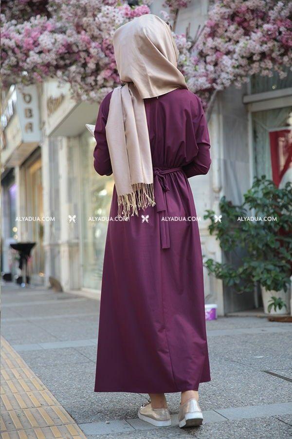 Seda Tiryaki - Mürdüm İncili Esin Elbise