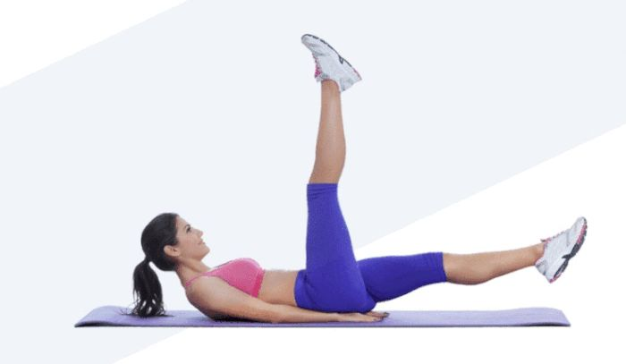 Lose Belly Pooch Challenge - Scissors Exercise