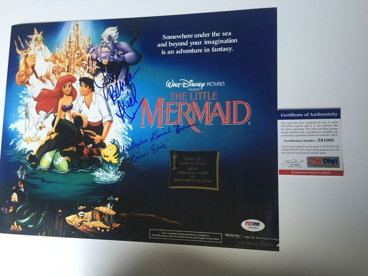 JODI BENSON & CHRISTOPHER DANIEL BARNES signed 11x14 Poster Little Mermaid PSA