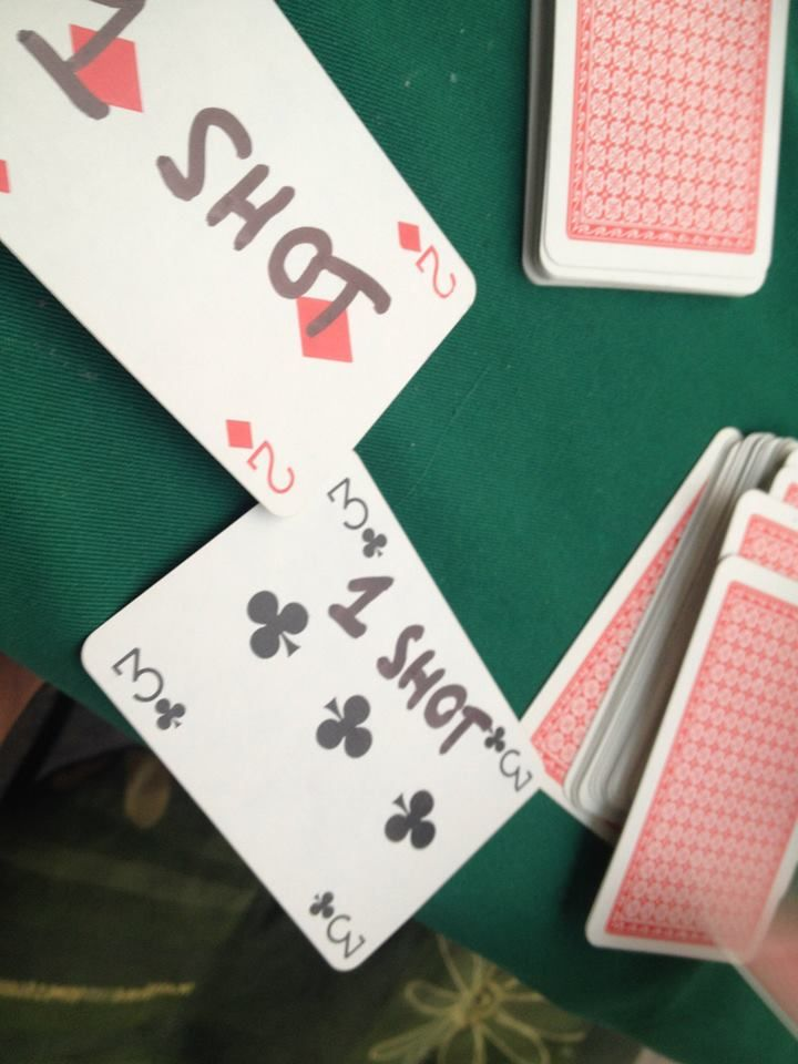 Rules were simple but not easy: 1.YOU CAN NOT POINT 2.YOU CAN NOT DRINK WITH YOUR RIGHT HAND 3. IF YOU PICK A CARD AND IT IS A SPADE YOU DO DOUBLE 4. CARD HAVE SHOTS ON THEM AS PUNISHMENTS https://www.facebook.com/Stagpartyinkrakow?ref=bookmarks