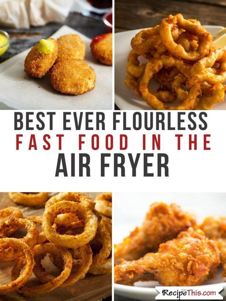 Air Fryer Chicken Tenders and several other delicious fast food air fryer recipes without flour. Air Fryer Chicken Tenders #airfryerrecipes #airfryerchicken #airfryerchickenrecipes #glutenfreechicken #lowcarbchicken