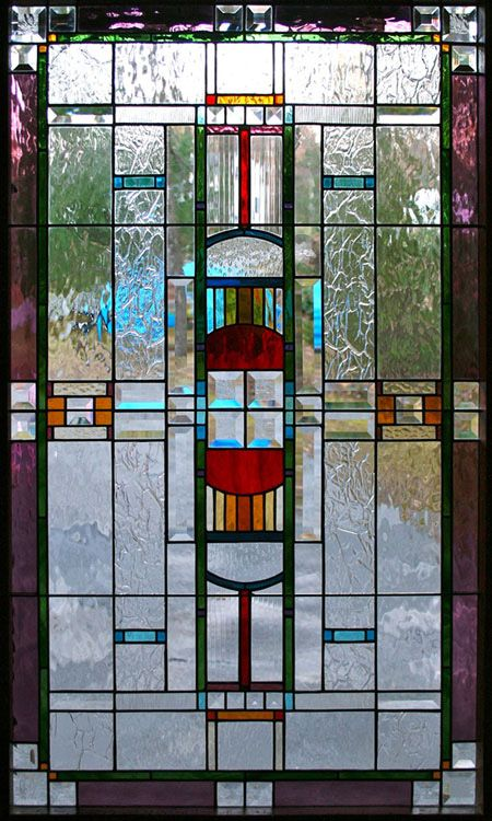 Stained Glass by Chippaway Art Glass, Modern Window in Stained Glass  Love this! Wow! So beautiful!