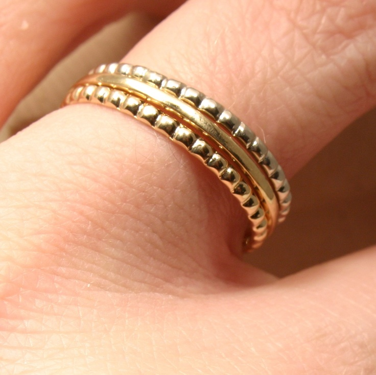 Elizabethan Gold Stackable Rings Wedding Band Alternatives For Her Made In Maine