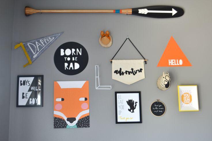 Hipster Nursery gallery wall