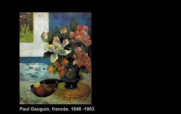 """Paul Gauguin (1848 -1903)  Nació en París, Francia. Pintor post impresionista del siglo XIX.  """"Naturaleza y Mandolina"""""""