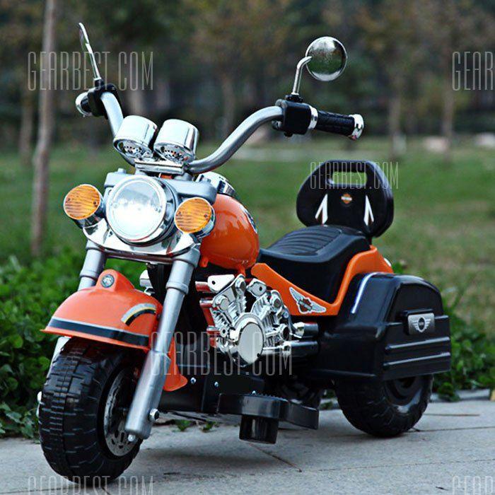 Bezpieczne dziecko 6V Motocykl Max 3 kołowa. 3 km / h Electric Powered Muzyka Światło Autocycle Prezent urodzinowy-86,97 Zakupy online | GearBest.com