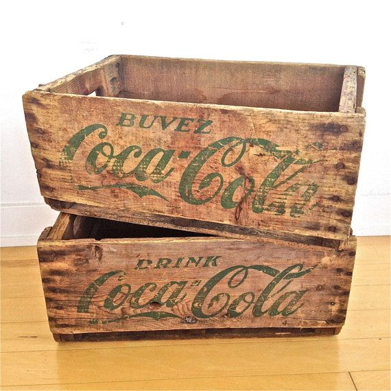 25 best vintage wooden crates ideas on pinterest wooden for Vintage crates cheap