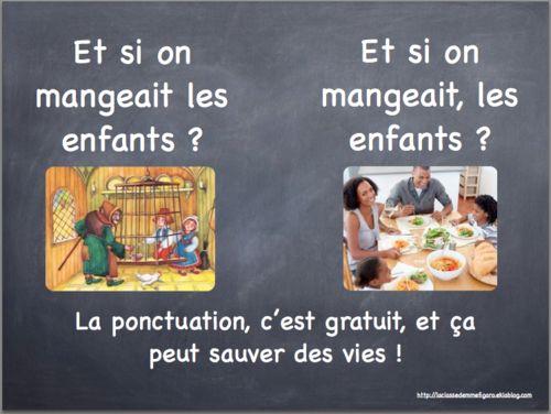Une variante pour réexpliquer l'importance de la ponctuation. ;) #ponctuation #sauver #vies