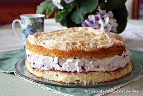 Blaubeer Mandel Baiser Torte