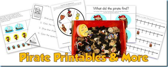 Pirate Theme Printables & More
