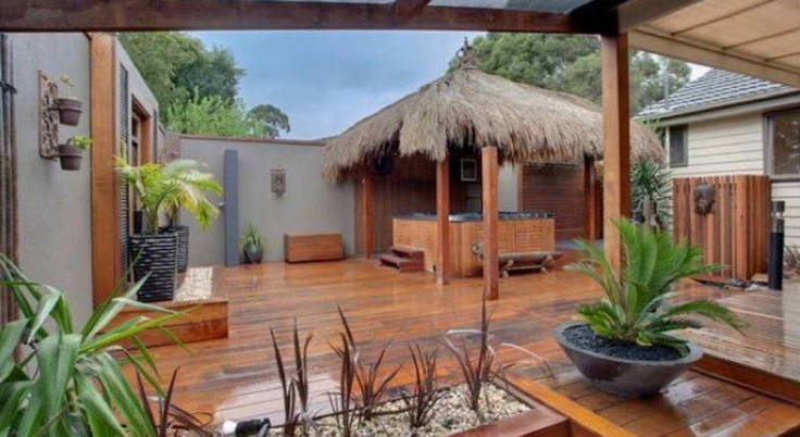 alfresco designs - Tiki hut spa
