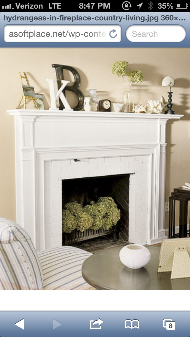 Empty Fireplace And Nice Mantel Decor Need To Do ASAP