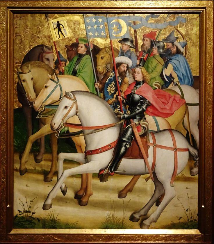 《東方三博士とその一行》(1450/55年) ドイツのウルムで活動した画家の作品
