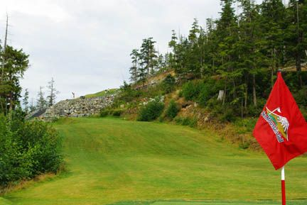 Golf with a view at Sea Mountain Golf Course in Sitka, Alaska.