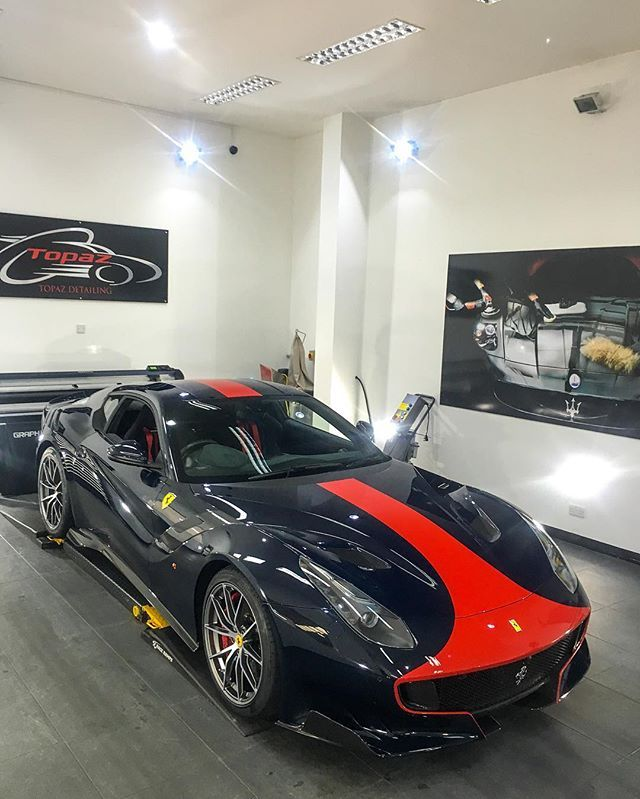 Blu Pozzi Rocks! #Ferrari #F12 #TDF #F12TDF #BluPozzi #SupercarDriver #Topaz