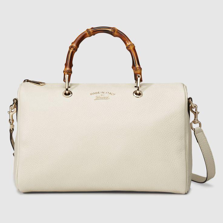 Gucci Bamboo Shopper leather boston bag
