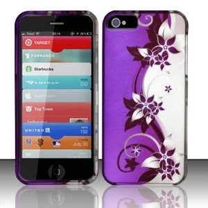 Rubberized Purple/silver Vines Design Phone Case for iPhone 5 $4.36 while supplies last!