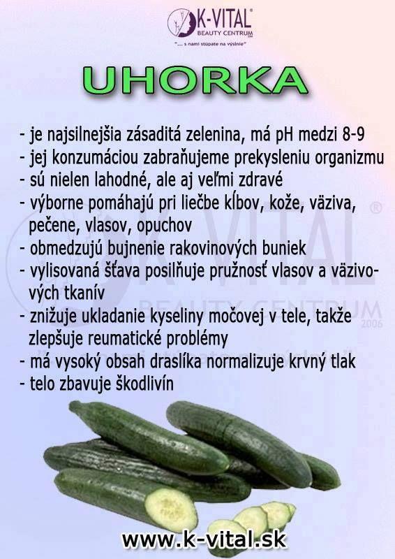 Okurky a její léčivé účinky.