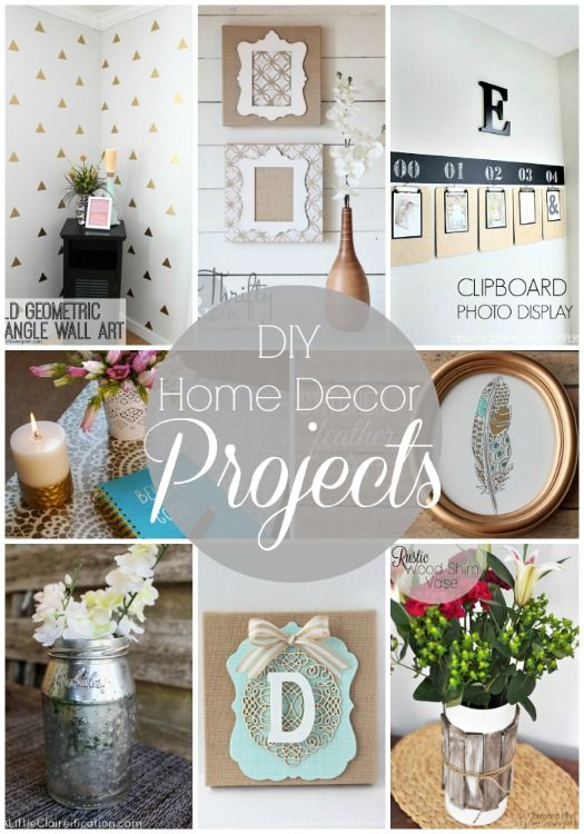 20 diy home decor projects link party features - Diy Home Decor Projects