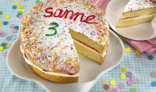 Feesttaart van cake recept | Dr. Oetker