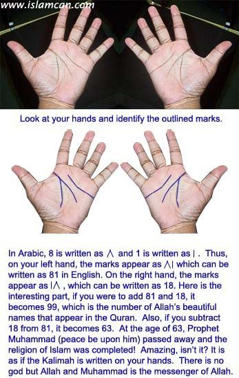 Amazing marks on your hand Sobhan Allah...