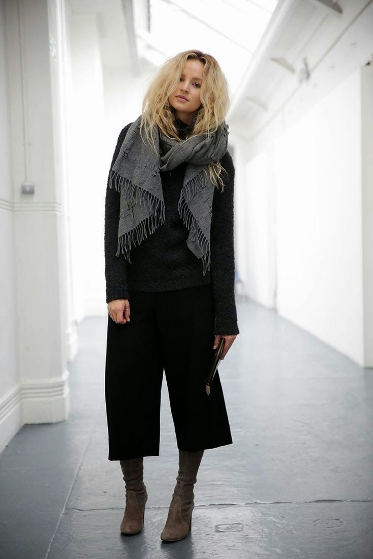 How I'll be wearing my new black wool crepe Girl Friday Culottes tomorrow.