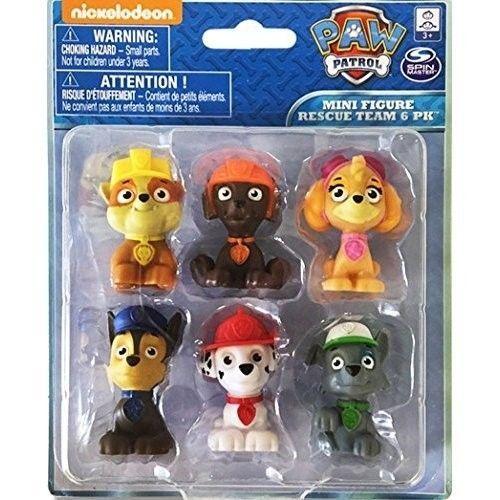 Paw Patrol Figures Set 6 Piece Deluxe Mini Action Cute Toys Kids Play Gift New #PawPatrolFiguresSet