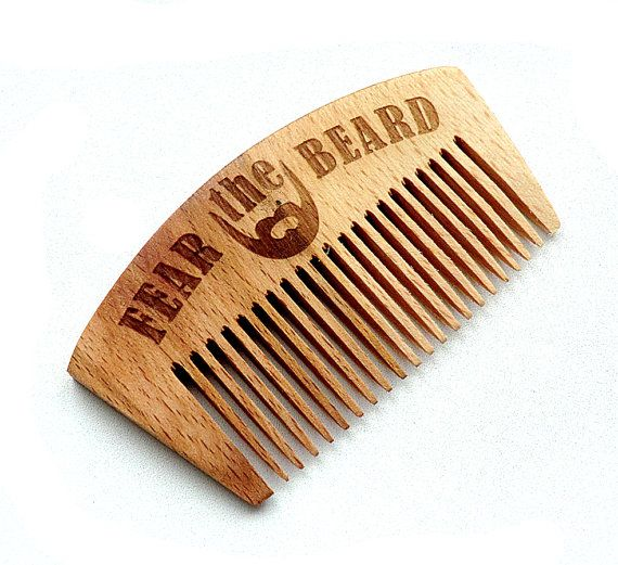 Beard comb Wooden Beard Comb for beard Gifts for by WoodenMaden