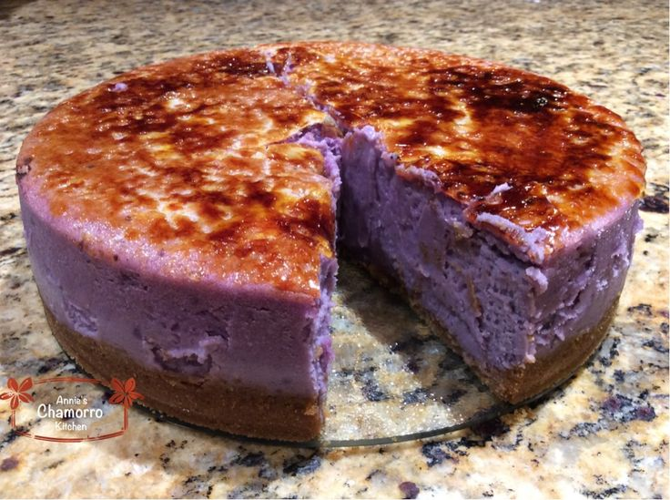Who doesn't love cheesecake? And for those of us who grew up in the islands, who doesn't love ube-anything? If you haven't tried ube, or taro, now's the time. While vacationing on Guam not too lo...