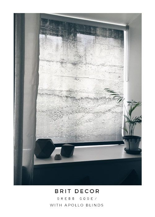 Concrete blind by Apollo Blinds and Brit Decor.