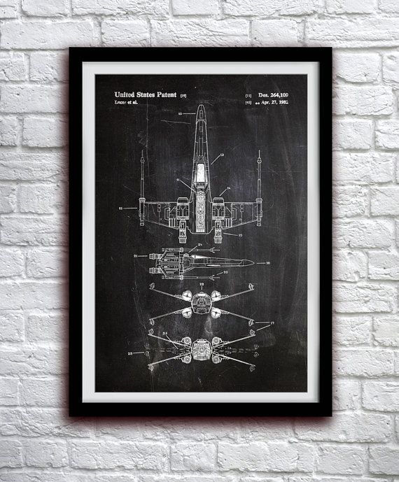 Star Wars X-wing - acción figura juguete Decor - Decoración de la pared de…