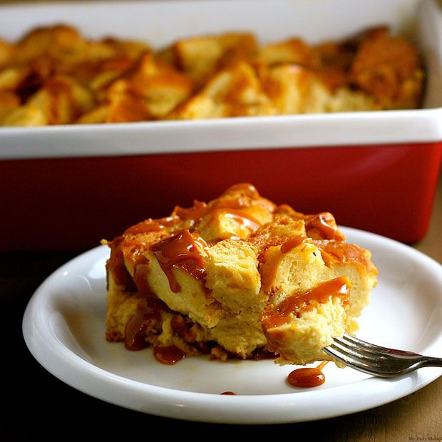 Salted Caramel Bread Pudding Recipe - RecipeChart.com #Dessert # ...