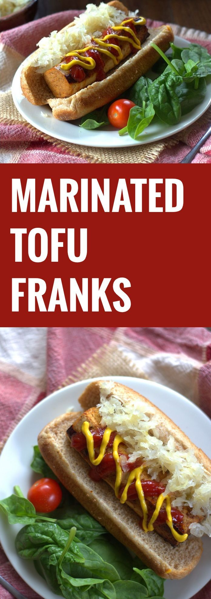 """Marinated Tofu Franks----hot dogs are the only """"meat"""" I miss! Can't wait to try this!"""