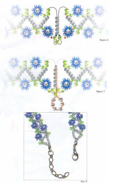 Zig Zig daisy chain. (rest of pattern on website)