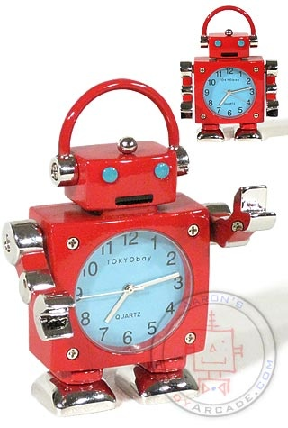 DJ Big Brother Red Robot Clock : Christmas Red Robot Clock : Tokibot by Tokyobay
