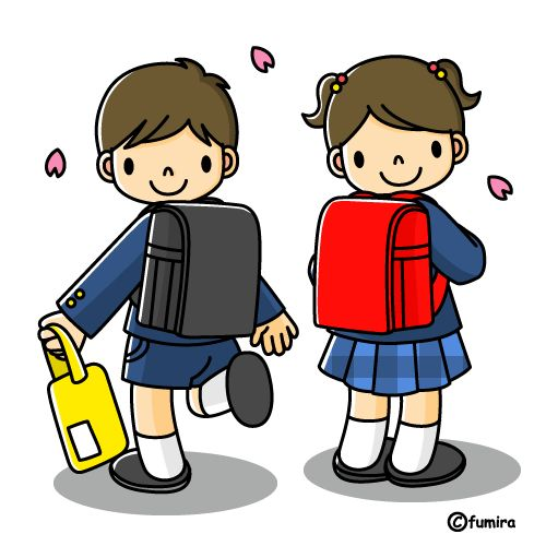 cartoon school kids in uniform | Indesign Arts and Crafts