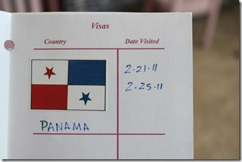 "Panama:  ■Learned to say ""Hello"" in Spanish:Hola(hello),""Thank You"" : gracias  ■Locate Panama & capital Panama City on the wall map  ■Geography from A-Z pg 22  ■Learned about the Panama Canal, did you know the average toll for a ship to pass through the Panama Canal is $ 56,000?  ■Make tropical fruit snacks:Mango, papaya,coconut,bananas  ■Complete map & flag  ■Animals of Panama  ■Do a pottery painting activity  ■make empanadas  ■Stamped our passports and moved on to Venezuela"